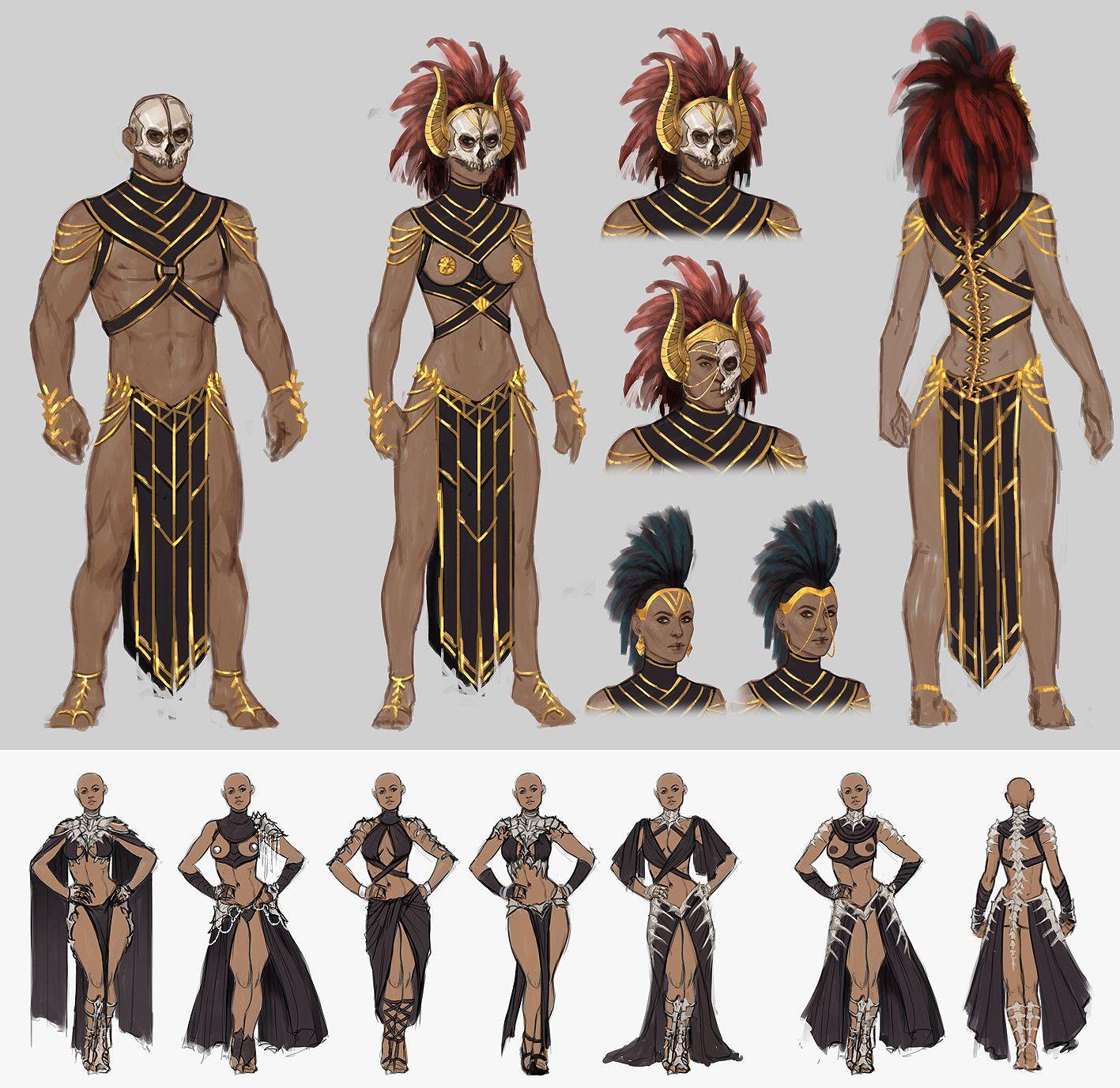 ArtStation - Conan Exiles costume concept art, Jenni