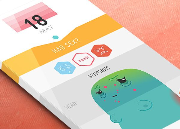 Mobile App Design Inspiration – Period Tracker | More App design ...