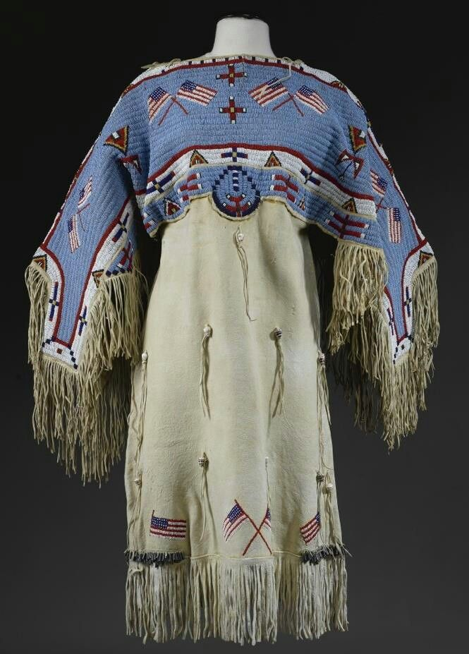 Lakota dress bead work pinterest v tement am rindien for Vetements artisanat indien