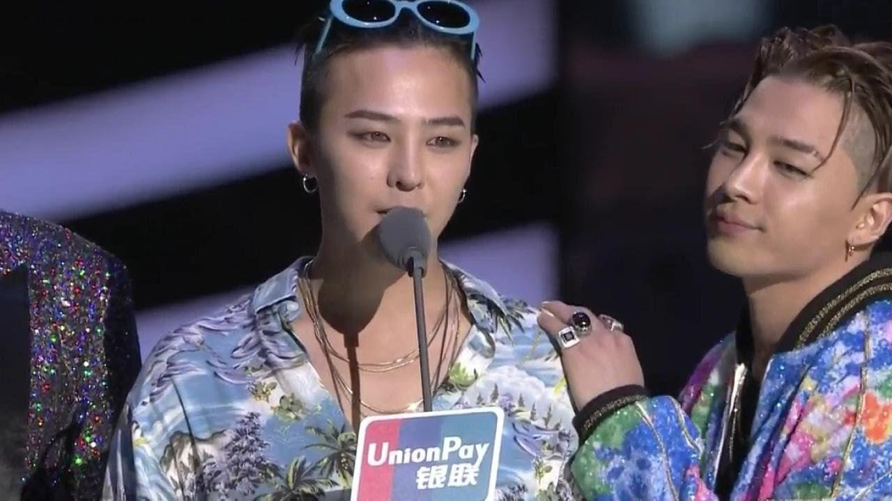 Eng Bigbang Won Artist Of The Year Speech Mama 2015 Artist Of The Year Bigbang Acceptance Speech Youtube