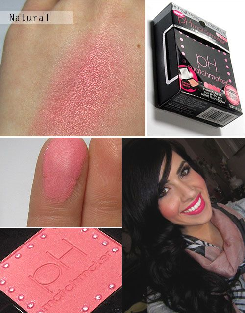 SWATCHES :: Physicians Formula ph Matchmaker Blush in Natural :: Soft pearl finish. Great color payoff, long wear time (still looking as vibrant as minute 1, 8 hours in!) | #missnattysbeautydiary