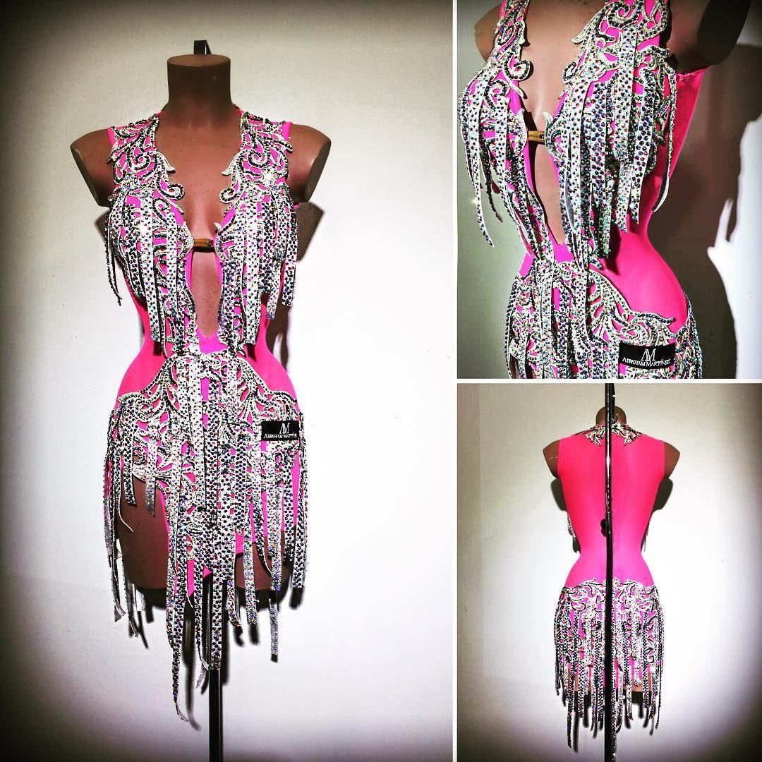Abrahammartinez Newdress Latin Pink Cristal Auroraboreal Swarovski Design Designer Luxury Forsale Robe De Danse Robe Danse Latine Robes De Bal Latin
