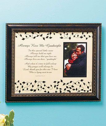Always Kiss Me Goodnight Poetic Frame | LTD wants! | Pinterest ...