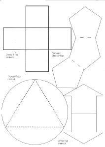 Grundformen Lapbook Vorlagen Blanko Click