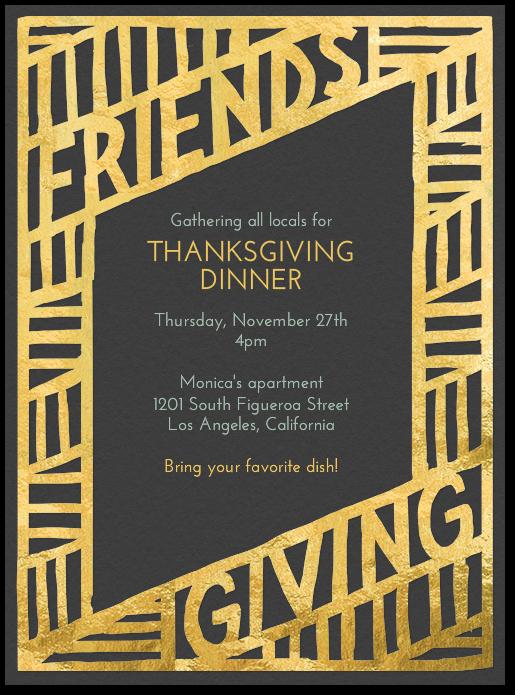 friendsgiving invitations Google Search FallThanksgiving