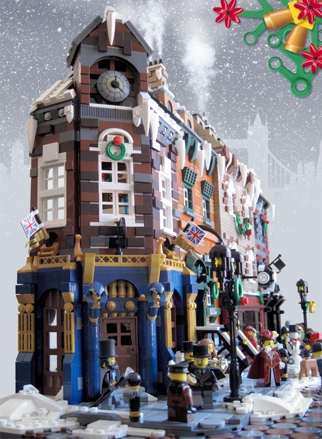 Victorian London Christmas レゴ 積木 建物