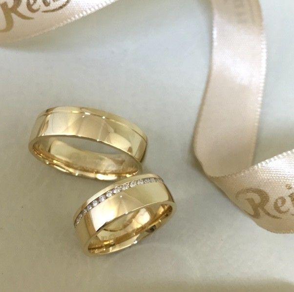 Par de Alianças Vila Olímpia ♥ Casamento e Noivado em Ouro 18K - Reisman 4fbcd6a40e