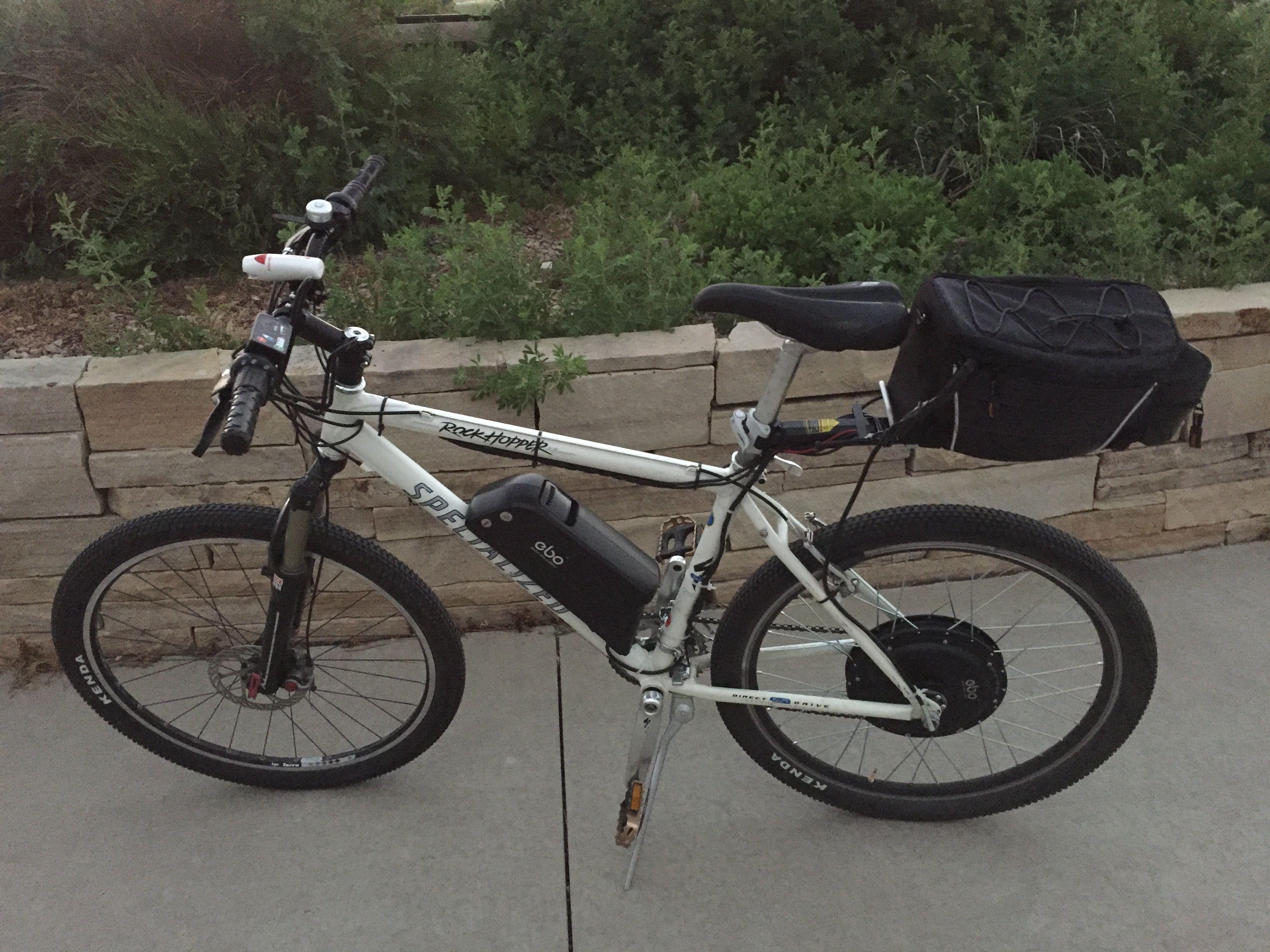 Ebo Mountaineer Electric Bike Kit Installed On A Specialized Rock Hopper Electric Bike Kits Bike Kit Bicycle