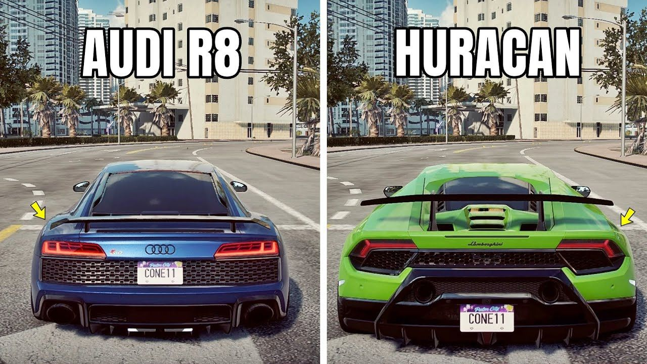 Nfs Heat Audi R8 Performance Vs Lamborghini Huracan Performante Which In 2020 Audi R8 Lamborghini Huracan Audi