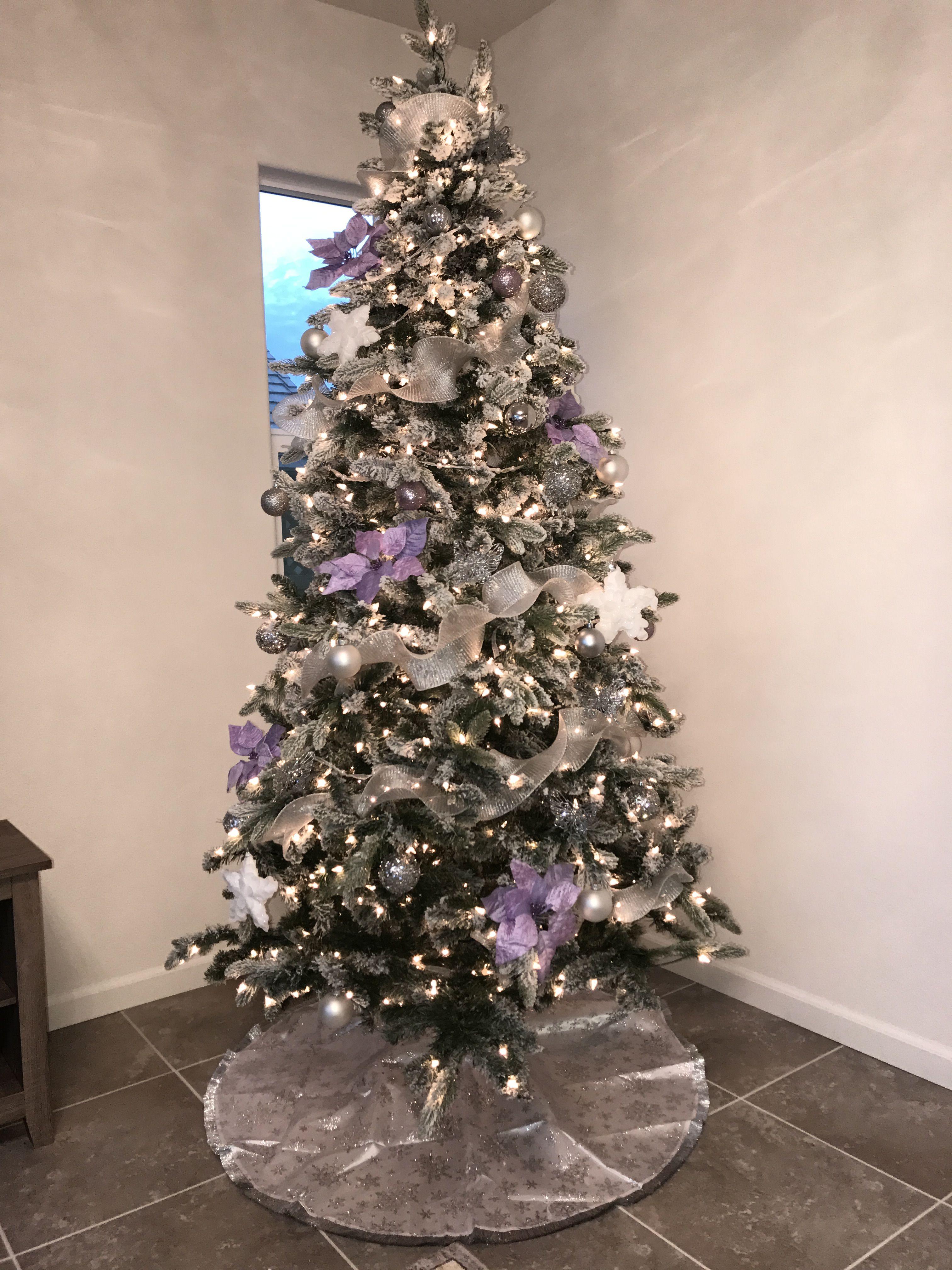 Lavender Christmas Tree Christmas Glam Rose Gold Ornaments Christmas Purple Christmas Decorations Christmas Tree Design