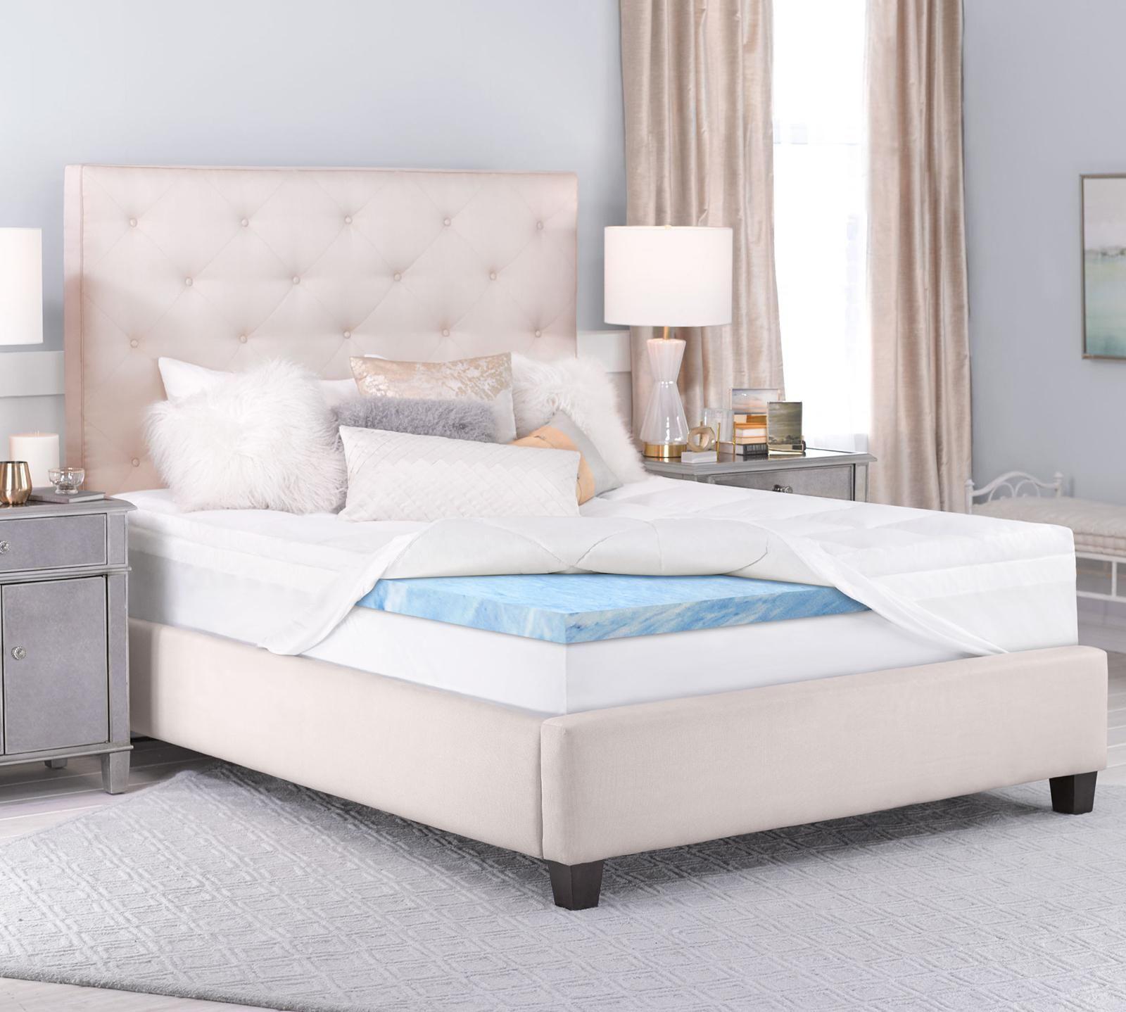 Serta Queen Luxury Plush Pillowtop 3 Inch Gel Memory Foam Mattress Topper In 2020 Mattress Queen Memory Foam Mattress Best Mattress