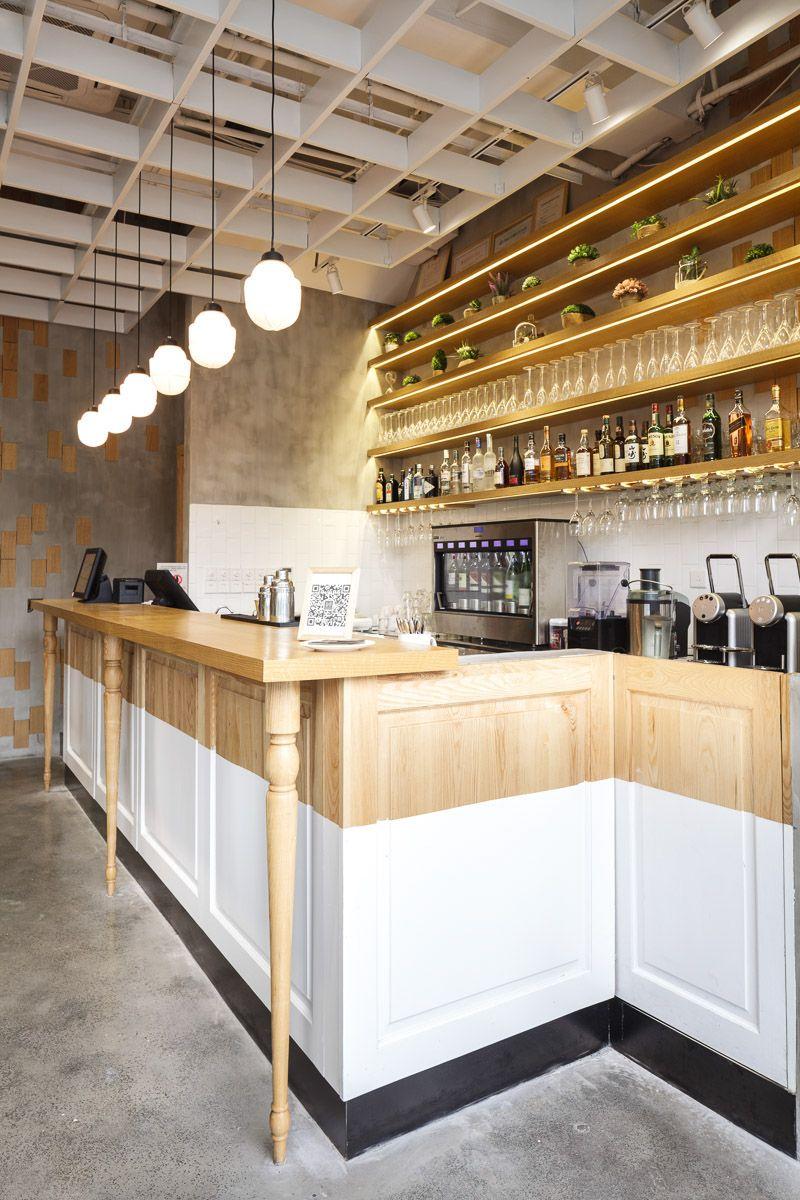 Nora S Bistro Is A Chic Californian Style Restaurant In Jingan District Shanghai Designed By Hannah Chu Bar Design Restaurant Cafe Interior Restaurant Design