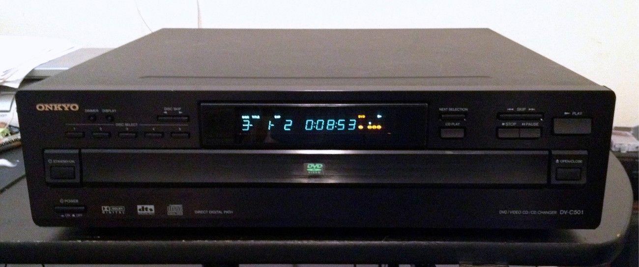 Onkyo DV-C501 5 disc DVD / CD / VCD / SACD Player / Changer