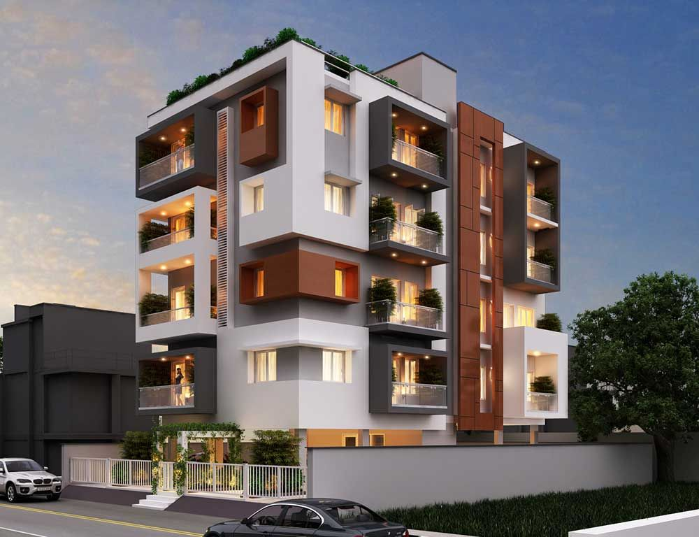 Front Elevation Designs Of Apartments : Front elevation for apartments latest bestapartment