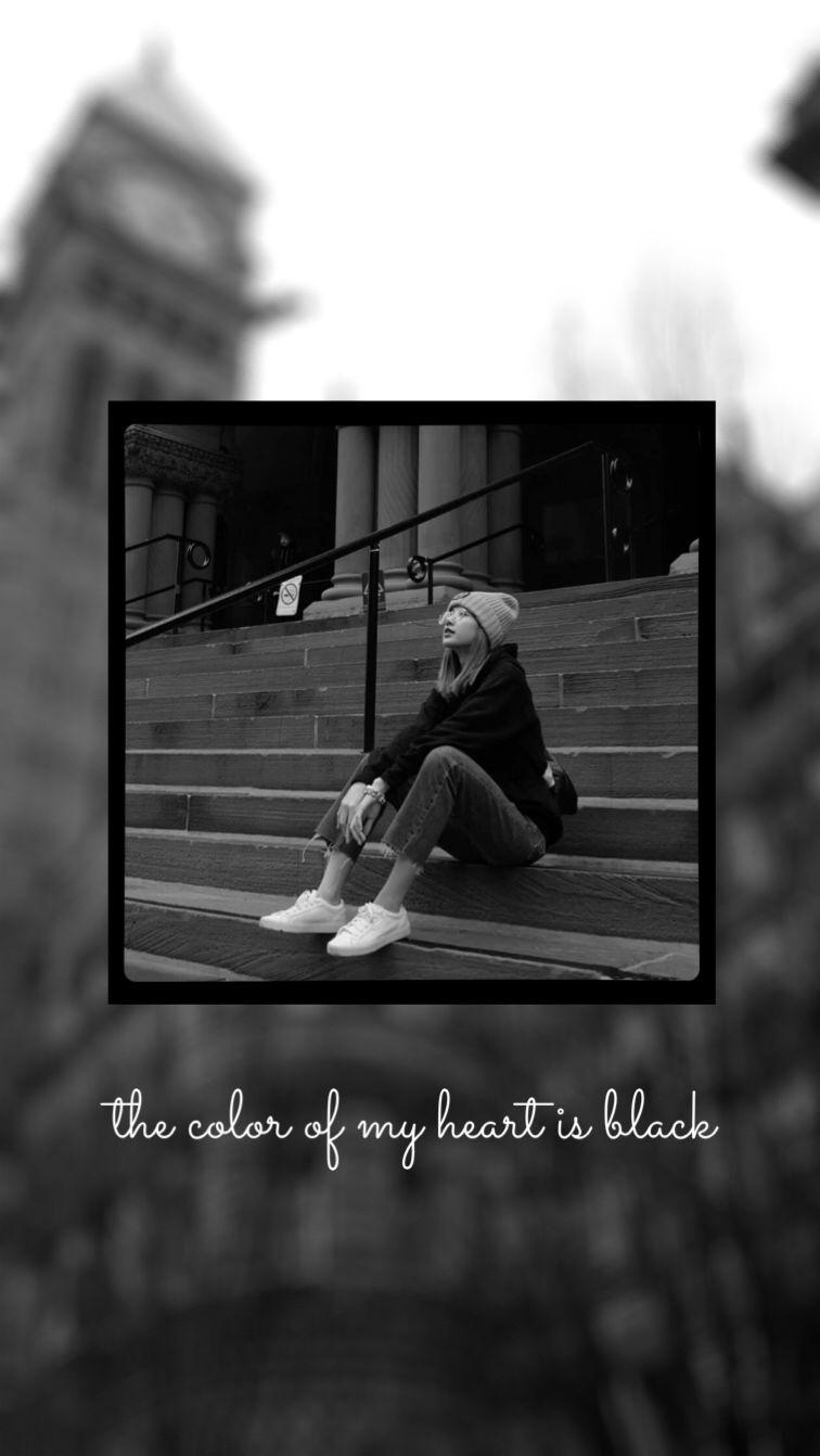 Black Wallpaper Iphone Dark Girl