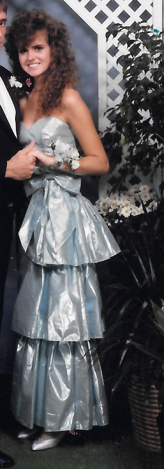 Metallic 80s Prom Dress More is more. 80's Pinterest
