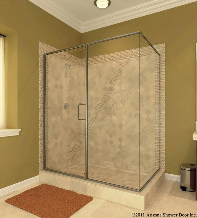 Continuous Hinge Door With Magent And 8x8 Pull Cdmp Frameless Shower Enclosures Shower Doors Shower Enclosure