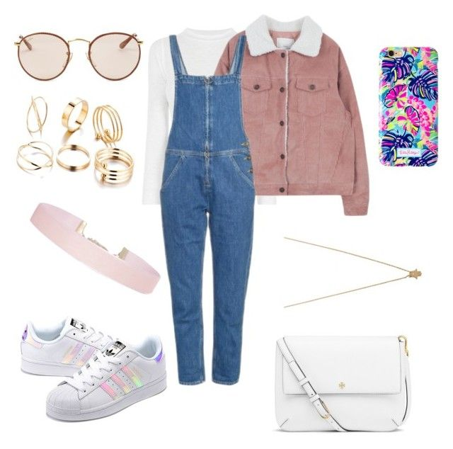 """""""Untitled #607"""" by verca000 ❤ liked on Polyvore featuring M.i.h Jeans, Ray-Ban, adidas Originals, Tory Burch, Lilly Pulitzer, Jennifer Zeuner and Humble Chic"""