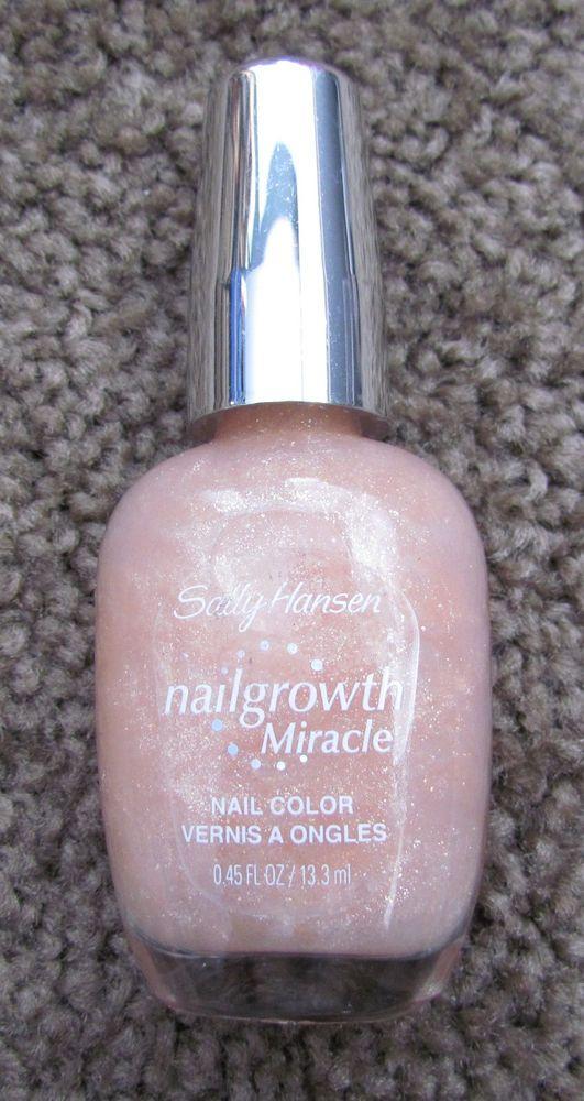 NEW! ❤ SALLY HANSEN NAIL GROWTH MIRACLE #155 MISTY ROSE NAIL POLISH ...