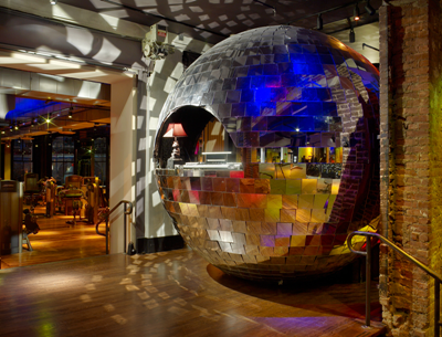 Disco Ball Reception Desk At David Bartons Gym In Ny Photos By Eric Laignel Seen Interior Design Magazine