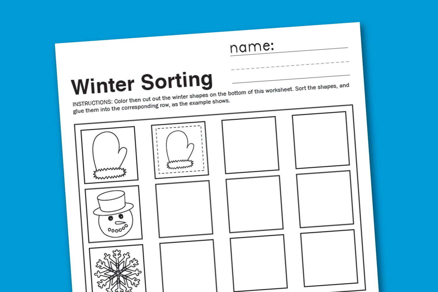 Winter Sorting Worksheet With Images