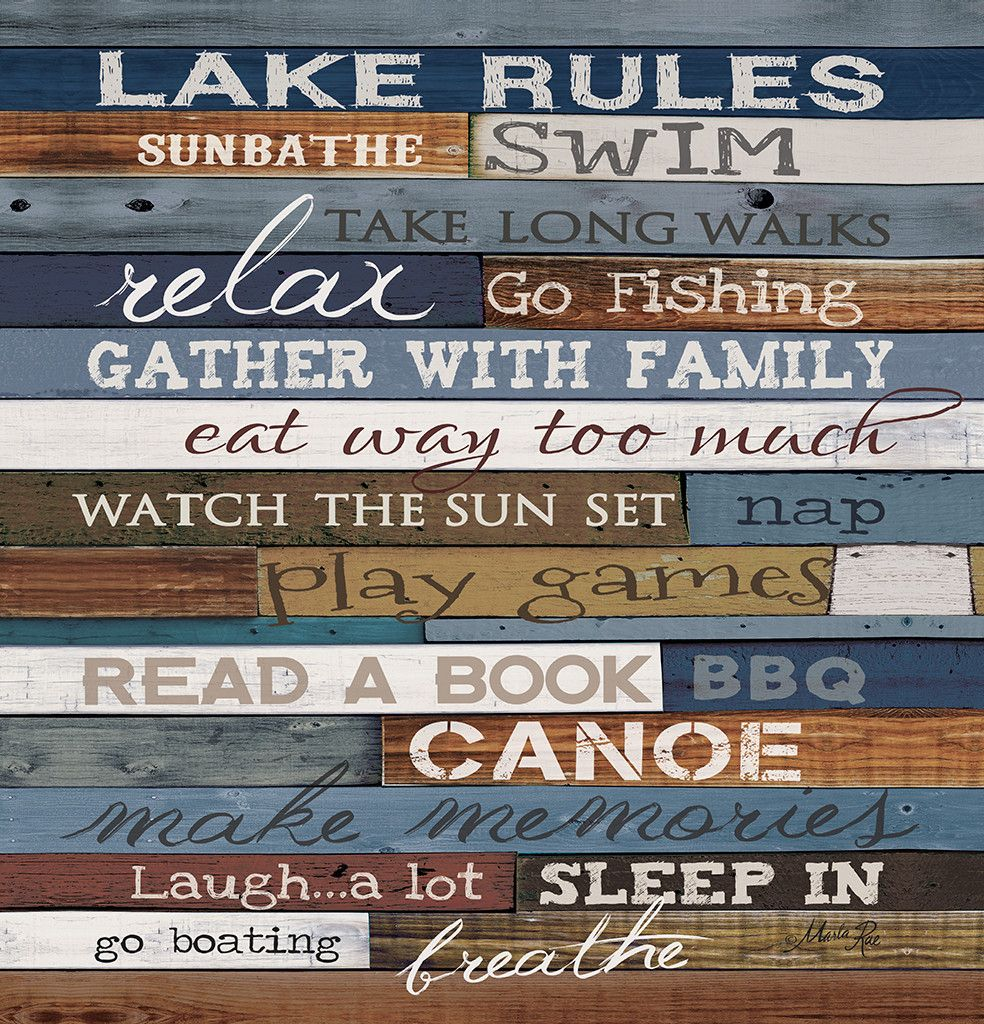 Channel Your Inner Carefree Child With This Fun Shower Curtain The Lake Rules Reminds You What Is Really Important For A Relaxing Vacation