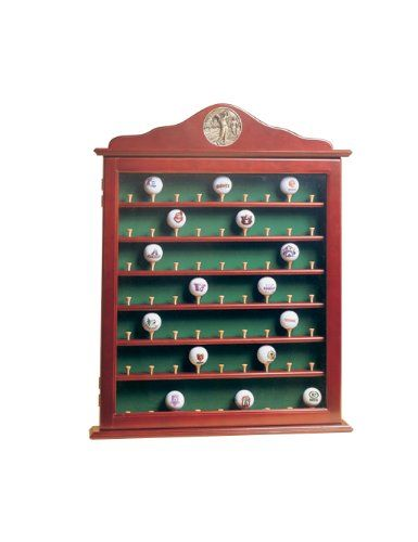 63 Golf Ball Display Case Cabinet With Acrylic Door Buy In Tyngsborough Golf Ball Display Case Golf Ball Displays Golf Gifts