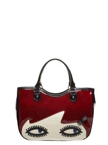 94724ff65f8 Lulu Guinness Small Wanda Red and White Bag