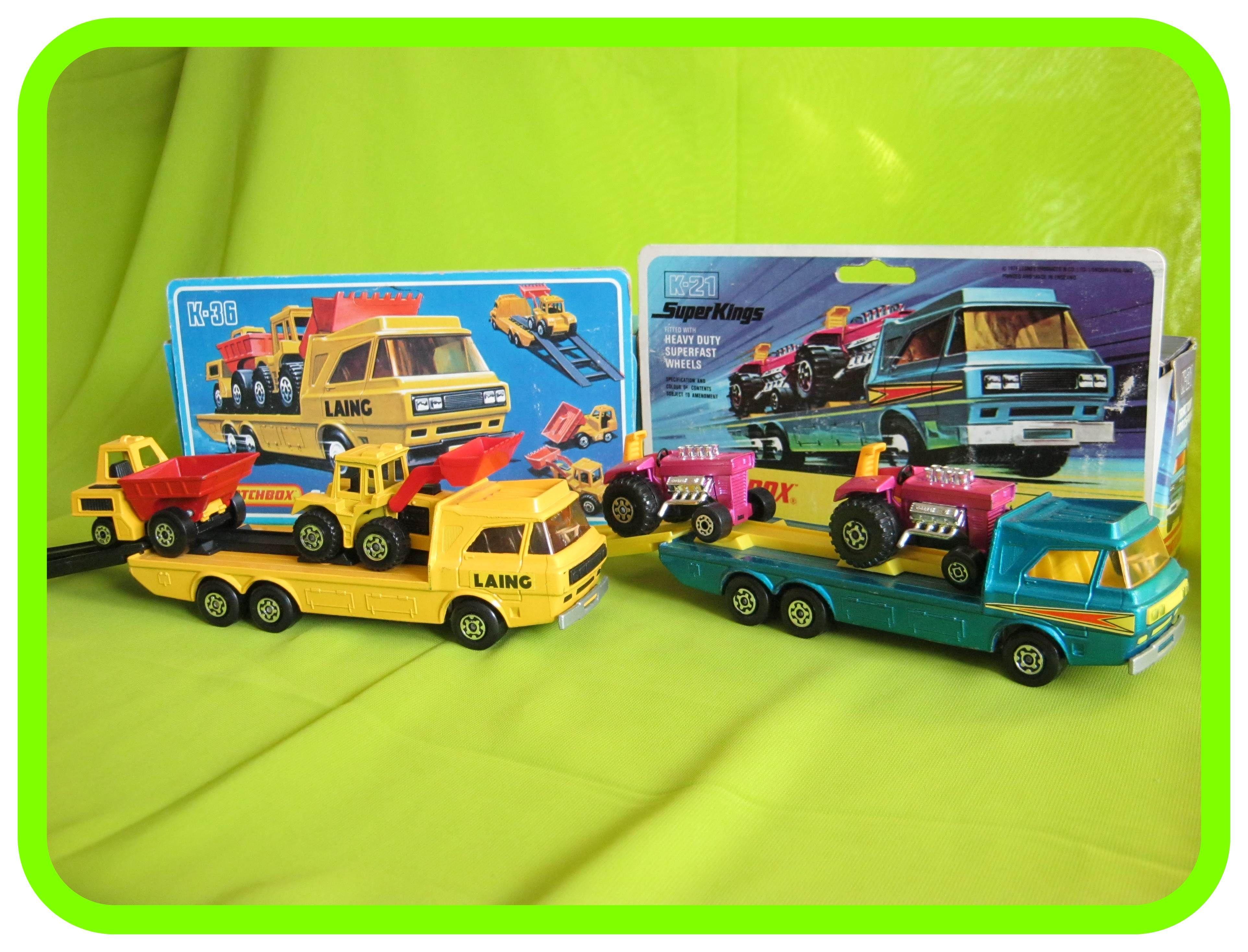 K36 Laing Construction Transporter K21 Tractor Transporter Mattel Hot Wheels Diecast Cars Matchbox