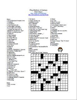 Stearswords This Puzzle Features Puns About The Playstation 4 S Best Games Happy Solving Crossword Puzzles Crossword Puzzle Crossword
