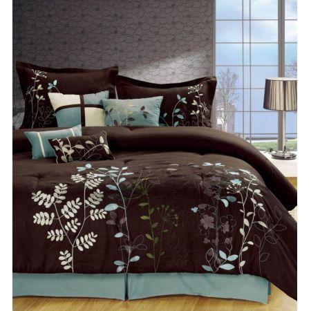 Set Includes Comforter Bedskirt Two 2 Shams Four 4 Decorativ Brown Comforter Sets Comforter Sets Comfortable Bedroom