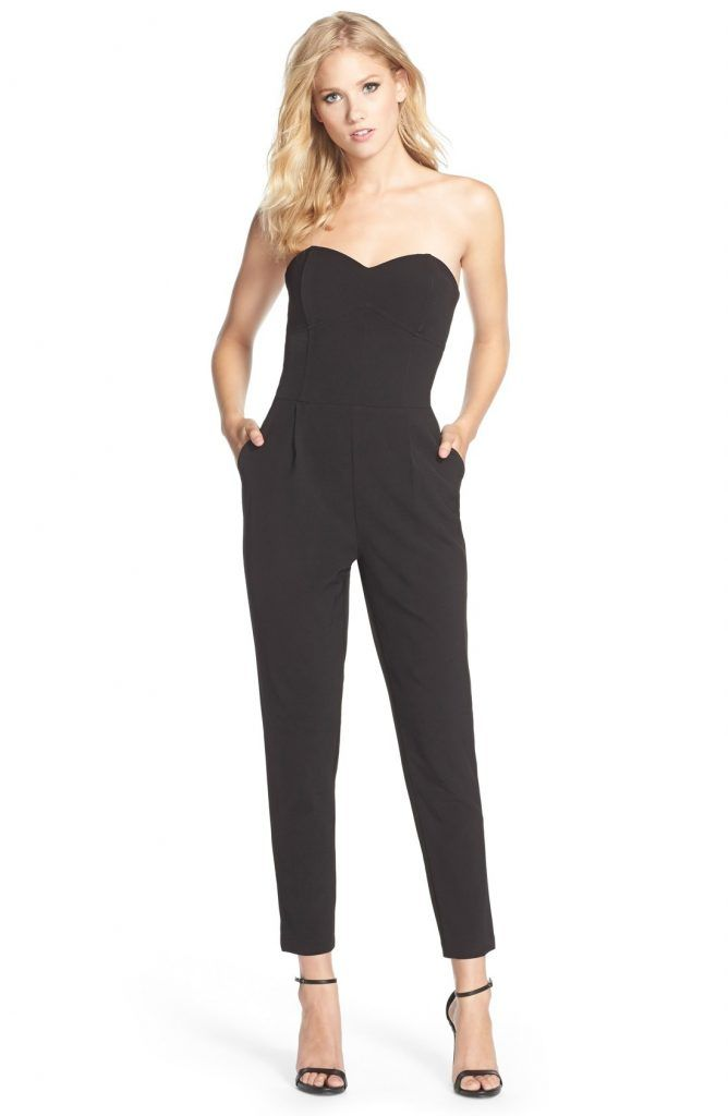 d2848592a71 Black Jumpsuits Amp Rompers For Women Nordstrom Strapless Jumpsuit ...