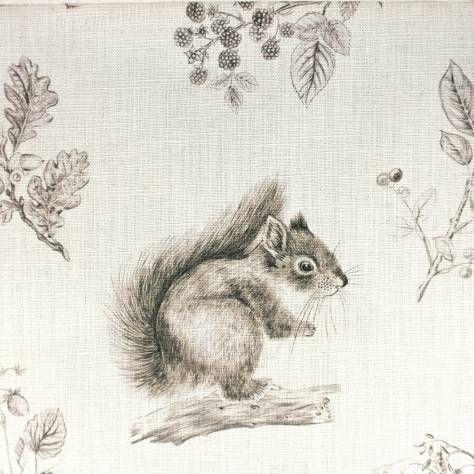 Sanderson Squirrel Amp Hedgehog Fabric Walnut Linen