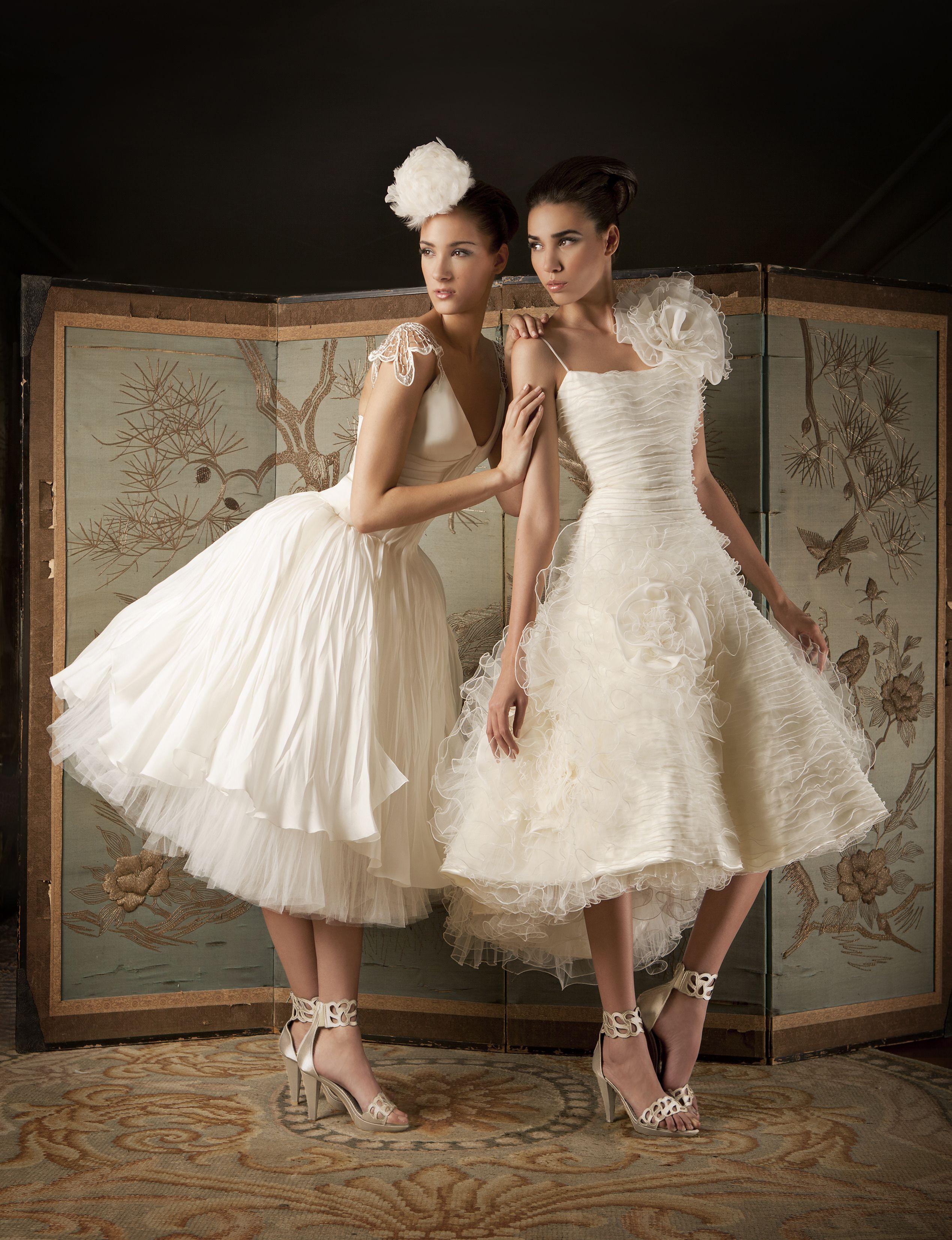 Vestidos bailarina de novia en tul ilusión y en gazar. FRANCO ...