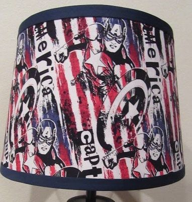 Marvel captain america lamp shade by geekyourinterest on etsy geek marvel captain america lamp shade by geekyourinterest on etsy aloadofball Images
