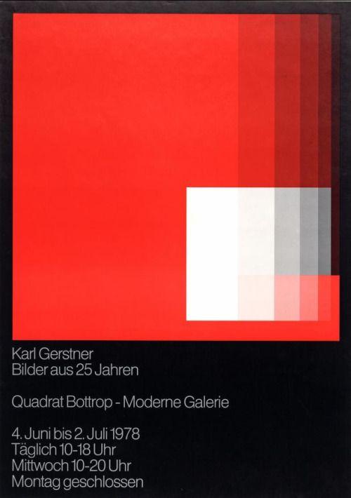 """calmack: """" Karl Gerstner, Bilder aus 25 Jahren (1978) """""""