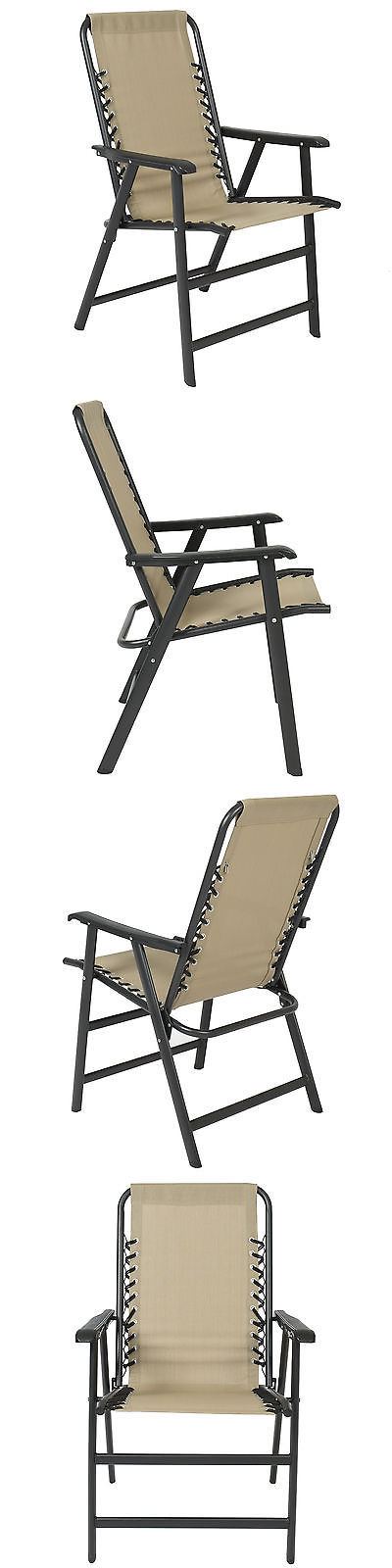 Chairs 79682: Best Choice Products Patio Lounge Suspension Folding Chair  Outdoor Sport Beige  U003e