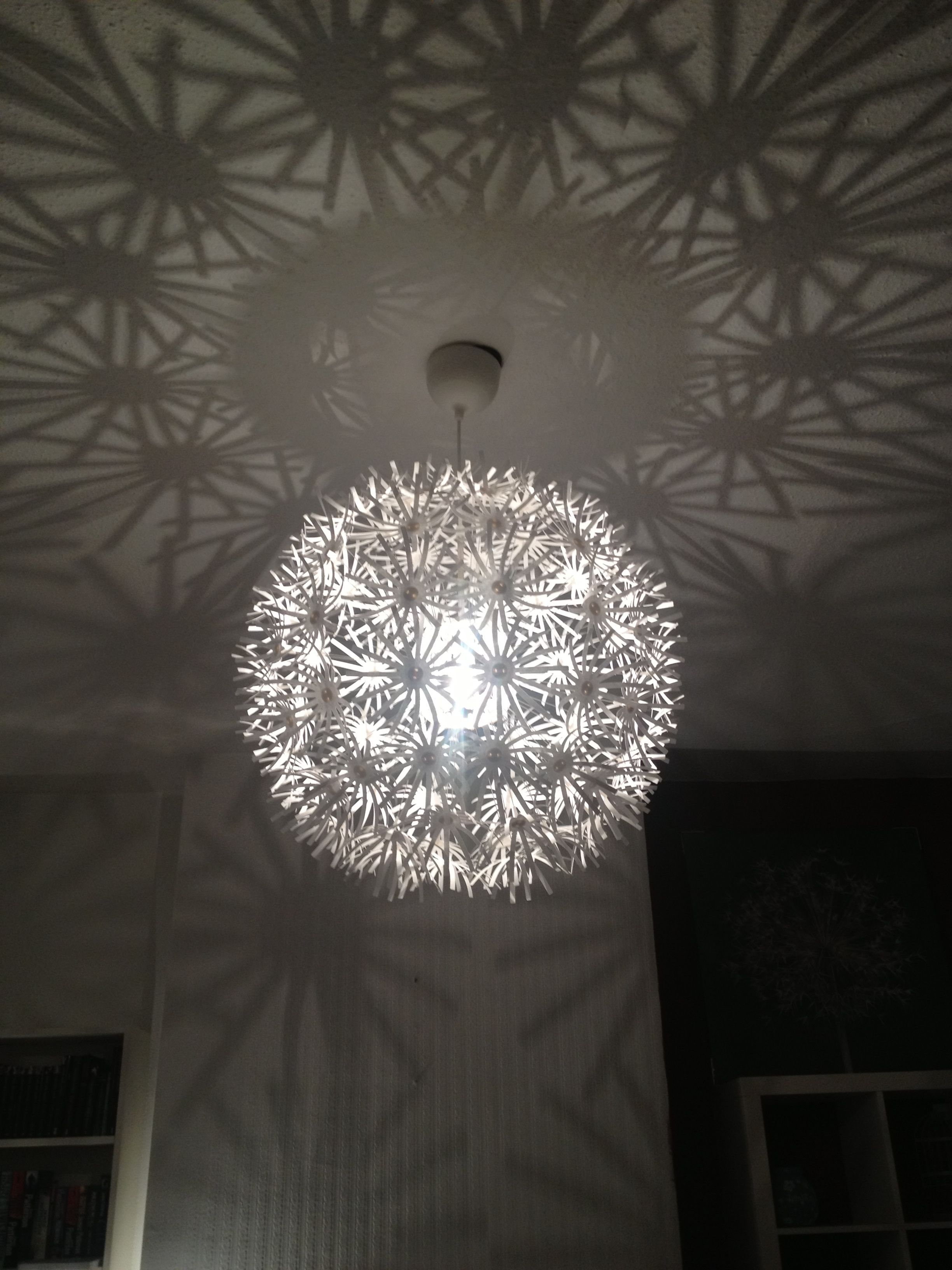 Ikea Ceiling Light With Lovely Shadows Ikea Ceiling Light Bedroom Lighting Hanging Bedroom Lights
