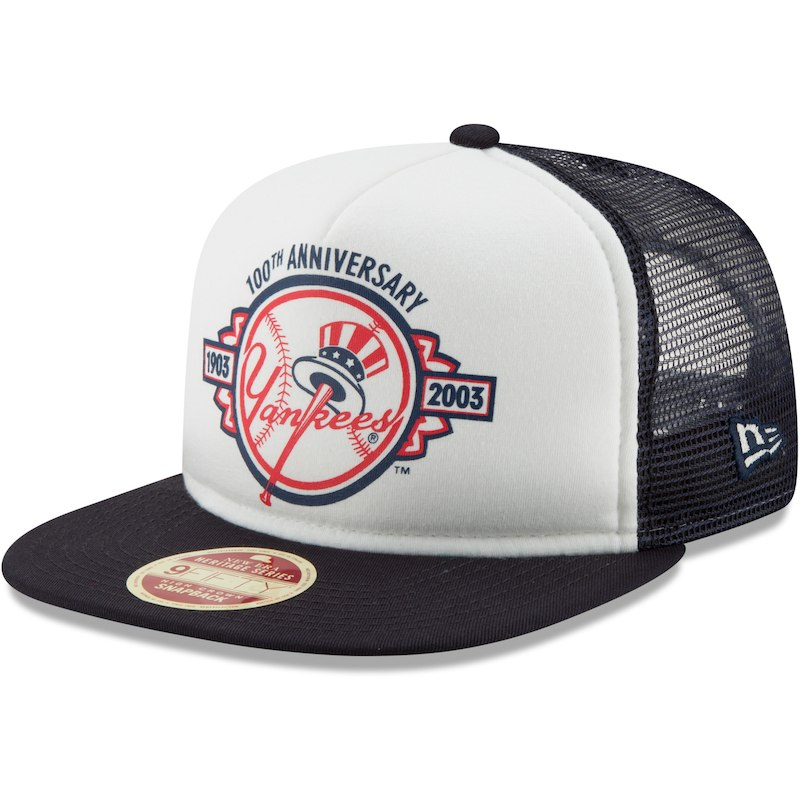 955a0bcc586 New York Yankees New Era Cooperstown Collection Foam Trucker 9FIFTY  Snapback Adjustable Hat – White Navy