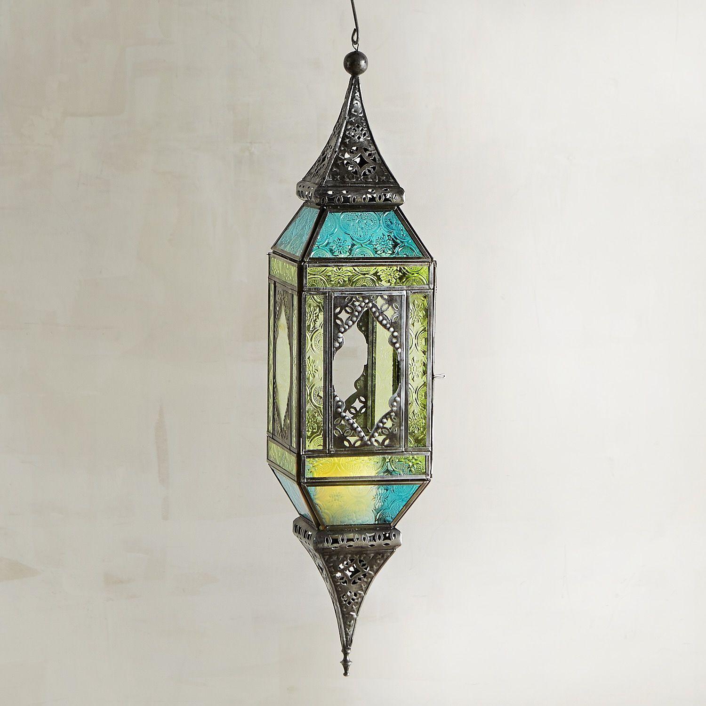 moroccan style lighting fixtures. Blue \u0026 Green Moroccan-Style Hanging Lantern Moroccan Style Lighting Fixtures