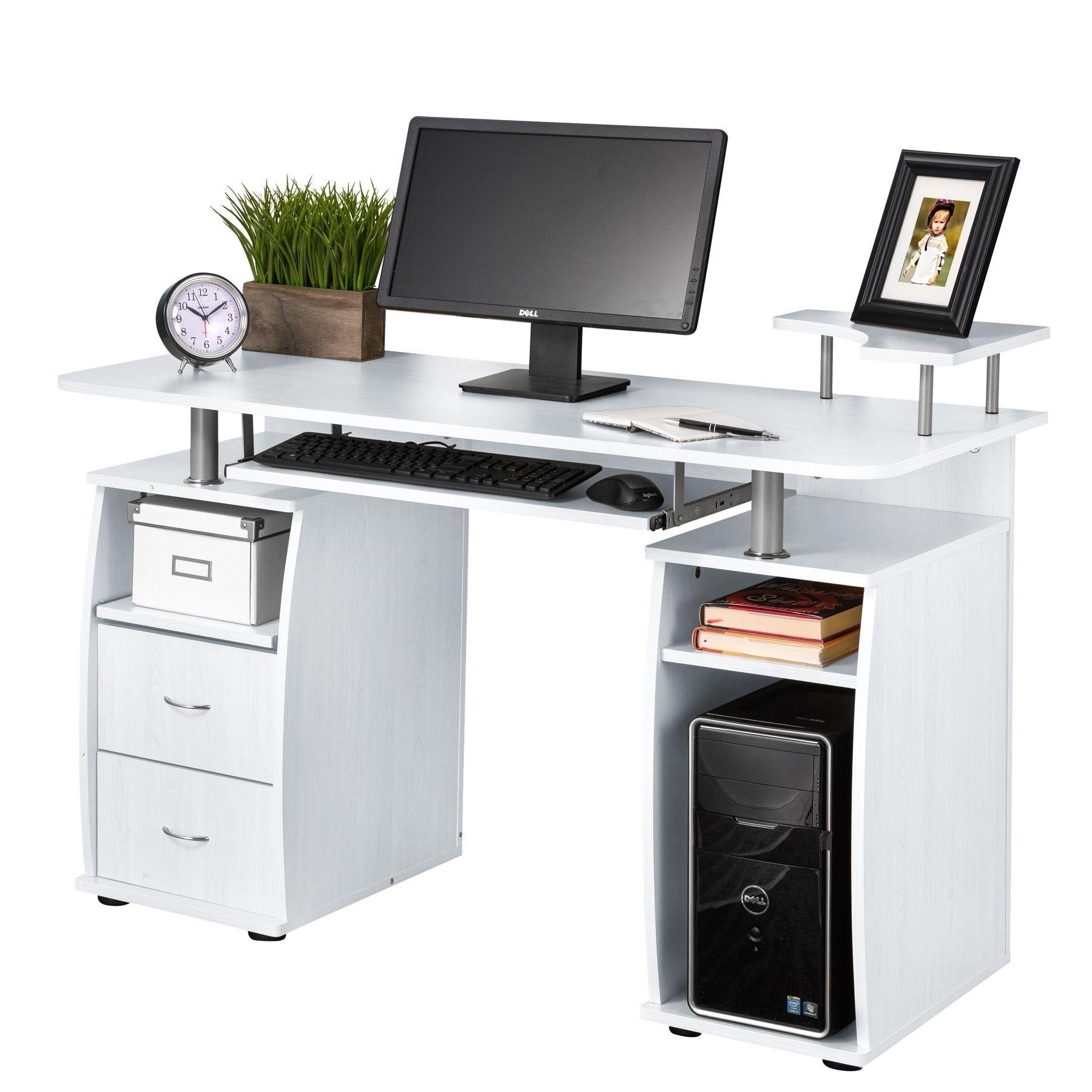 Fineboard Home Office Computer Desk (White), Size Medium | Best ...