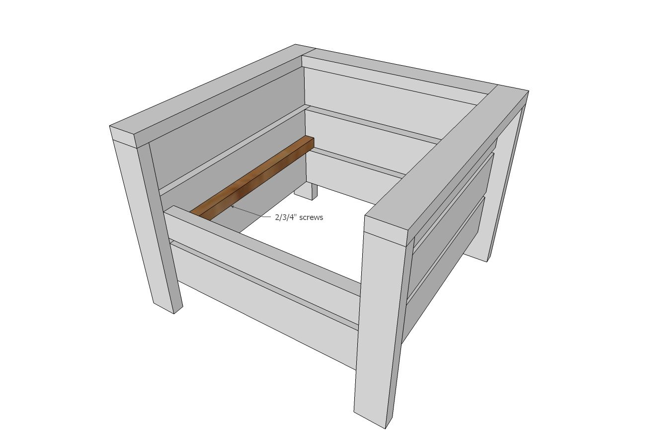 Modern Outdoor Chair From 2X4S And 2X6S Outdoor 400 x 300