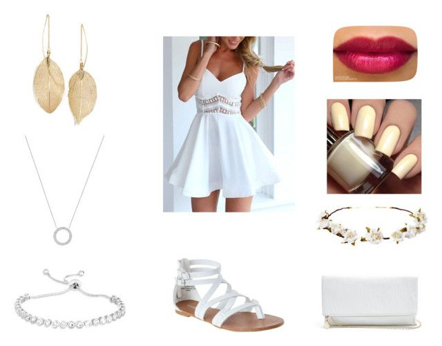"""""""A White Summer"""" by preciousdieyi ❤ liked on Polyvore featuring GUESS, Cult Gaia, Michael Kors and Lulu*s"""