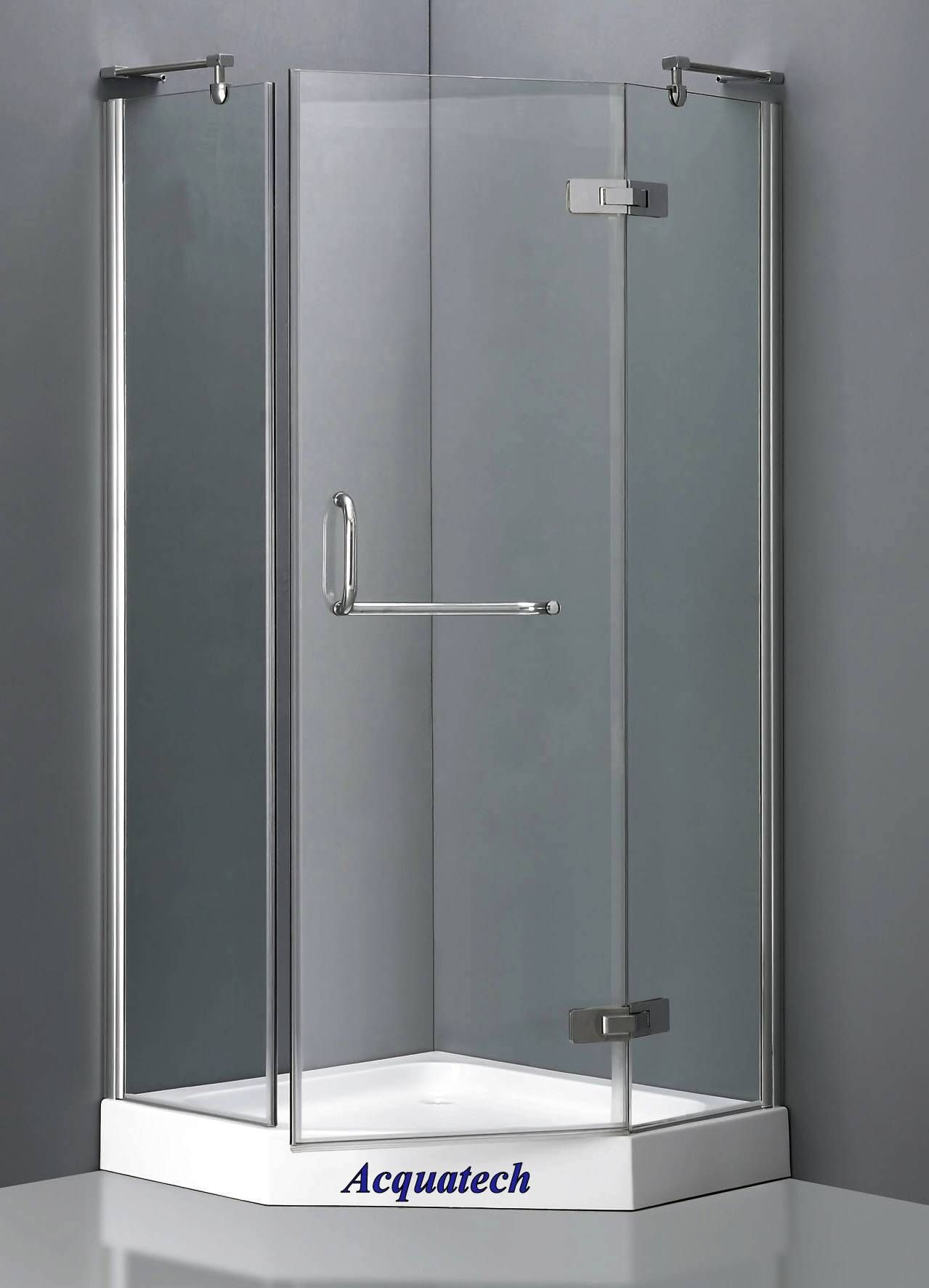 Basic shower stall. 3'x3' Corner shower, Glass shower