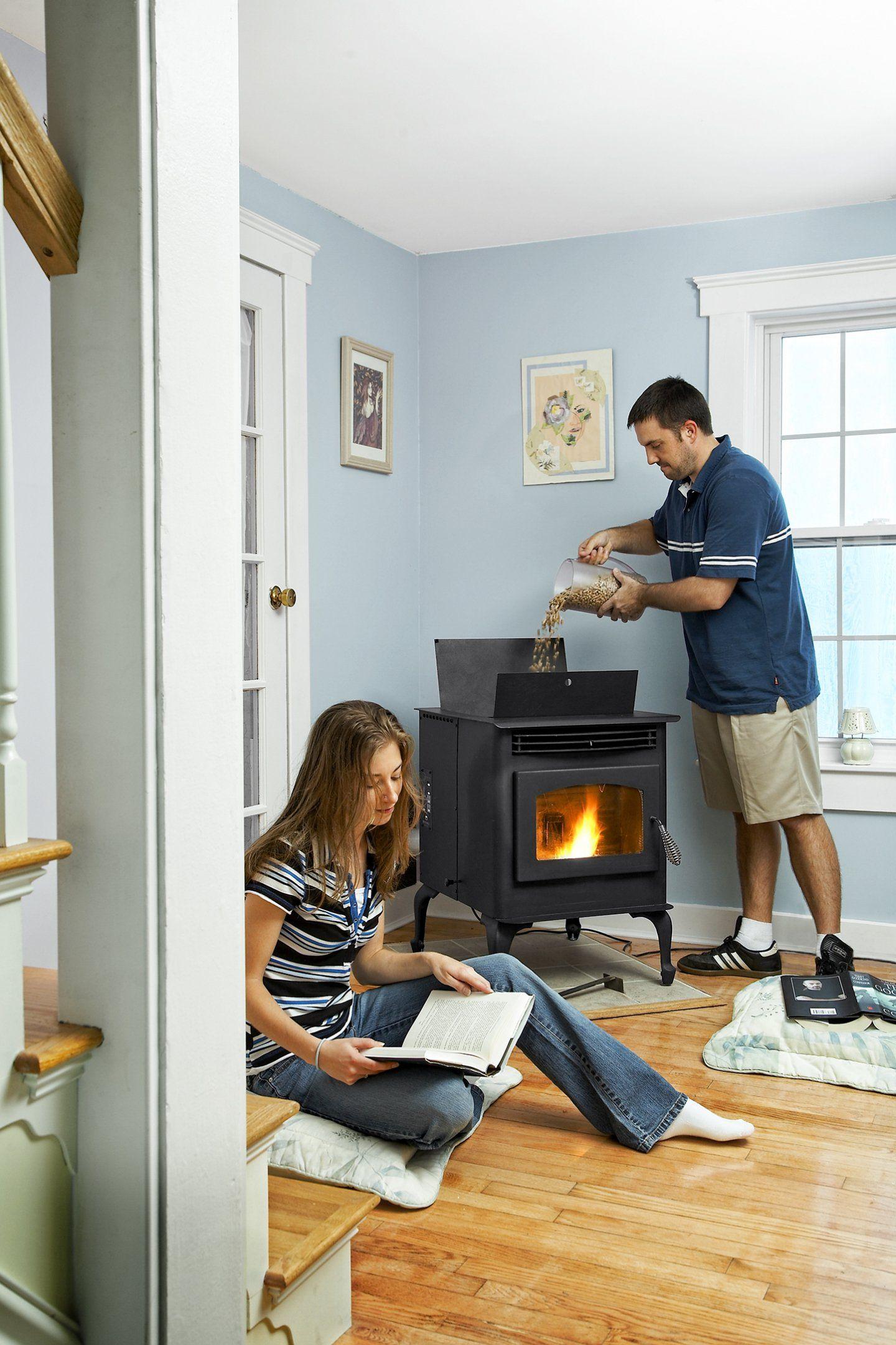 pelletofen oder kaminofen 10 tipps und vorteile pinterest. Black Bedroom Furniture Sets. Home Design Ideas