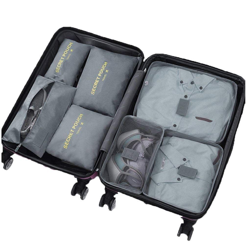 32c485e0def7 Packing Cubes - WantGor 6pcs Sets Travel Storage Bag Organizer ...