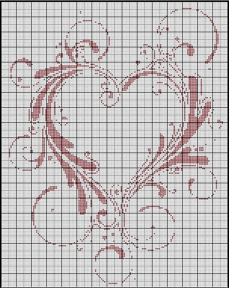 Mariage Au Point De Croix : mariage, point, croix, Coeur__pur_, Motifs, Couture,, Point, Croix, Mariage,