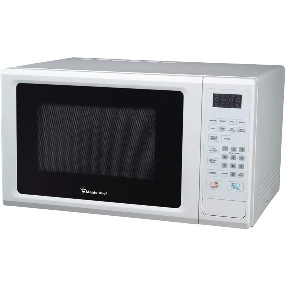 Magic Chef 1 Cubic Ft 1000 Watt Microwave With Digital Touch White
