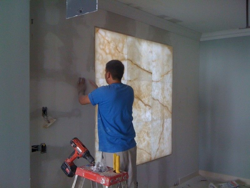 Custom Backlit Onyx Wall Installation With Images Wall Panels