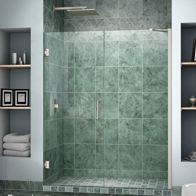 Dreamline Unidoor 48 W X 72 H Hinged Frameless Shower Door With